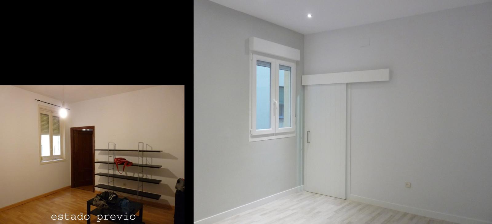 Al ser una vivienda en alquiler se eligieron tonos neutros para no condicionar la decoración del próximo inquilino.