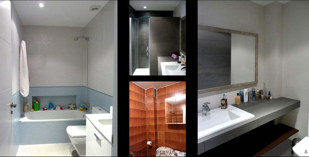 La vivienda tiene dos baños,  uno de ellos  en suite con el dormitorio principal.