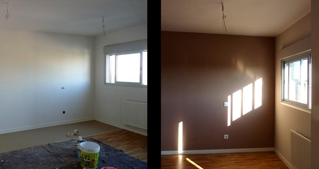 En algunas paredes se subió el tono para dinamizar la estancia y  ayudar a zonificar.