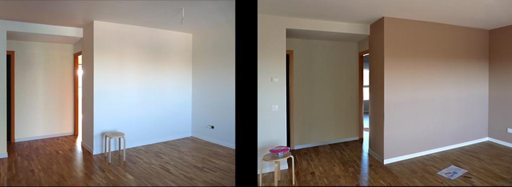 La vivienda se pintó en un suave tono arena que aporta calidez.