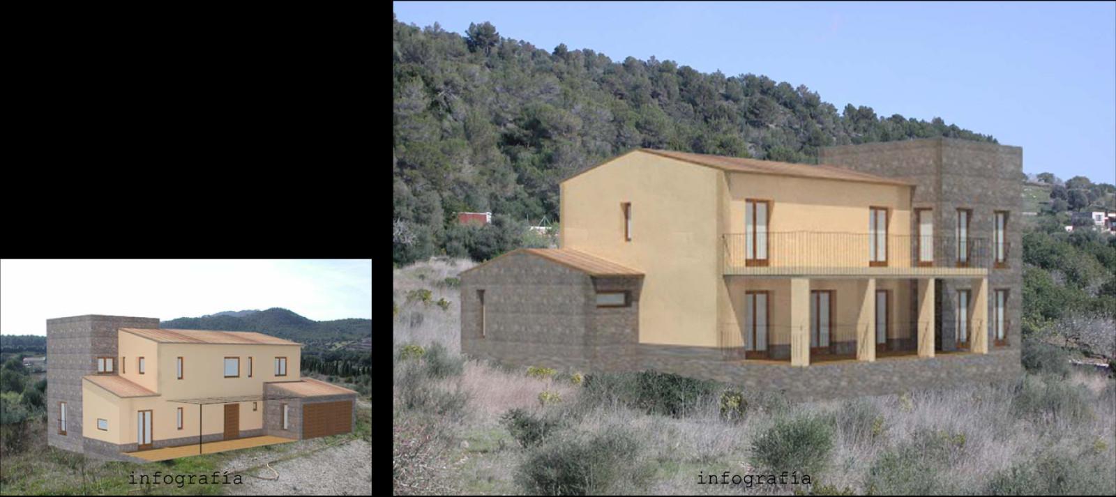 Infografía de la casa en el sitio.