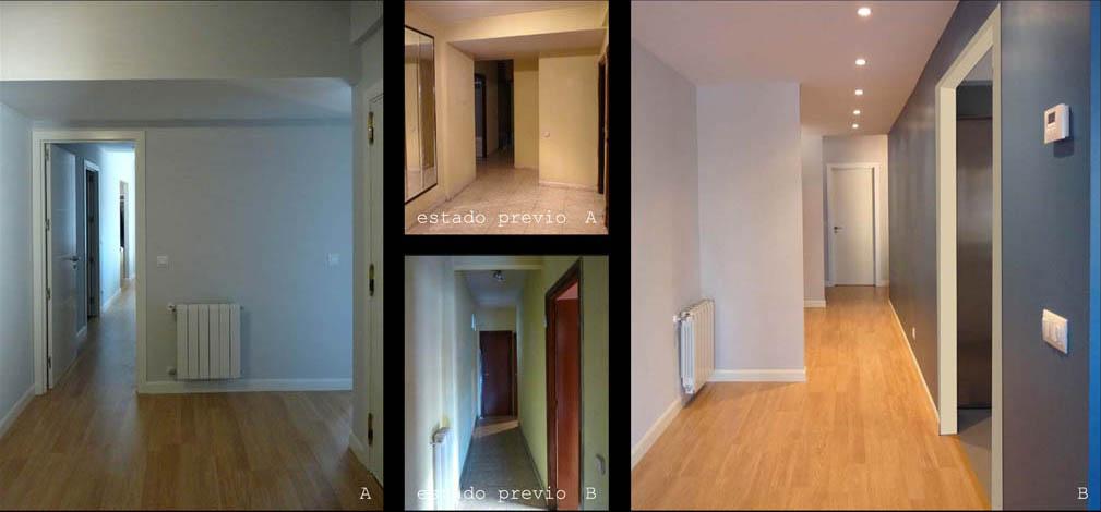 Nuevos espacios limpios, ordenados y  de manera que la luz natural llega a todos los rincones de la casa.