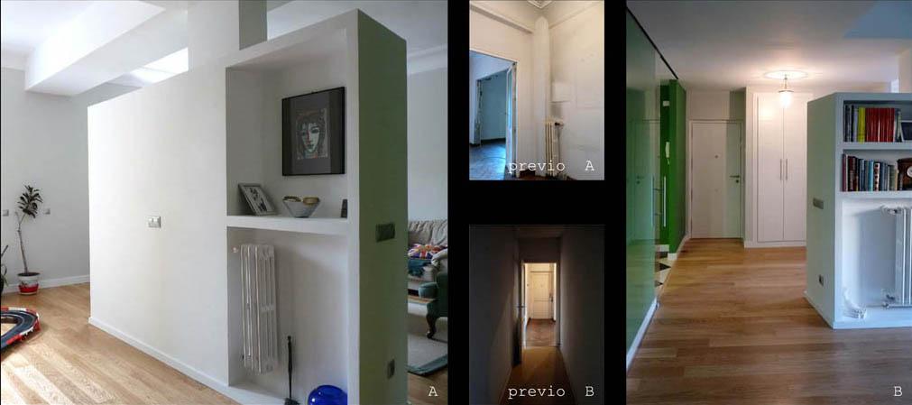 La sensación de amplitud al entrar en la casa se potencia con la luminosidad que entra por las ventanas.