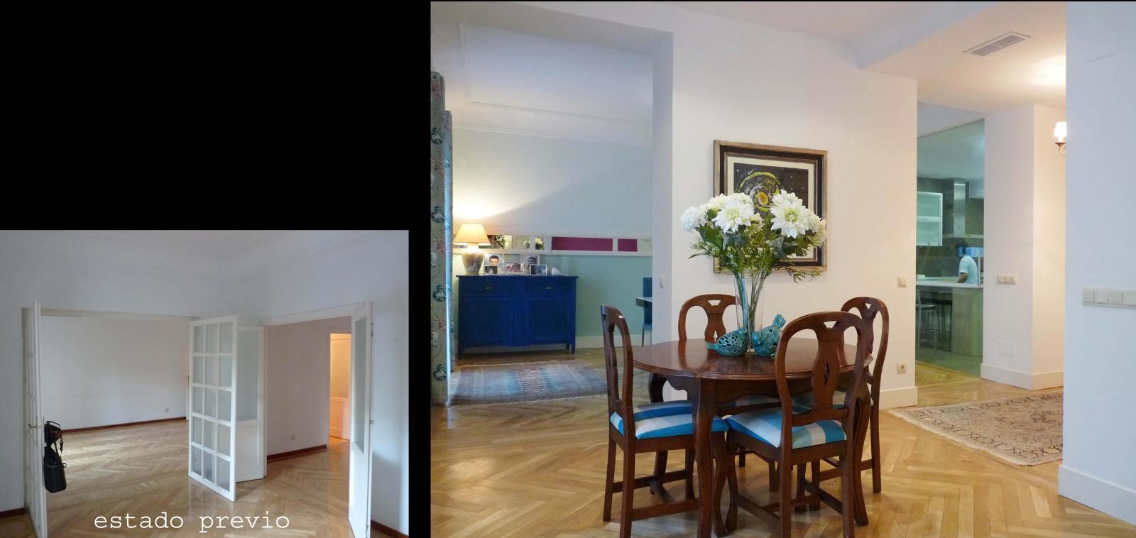 Se trataron muebles y objetos que ya habían en la vivienda para adaptarlos a la nueva decoración.