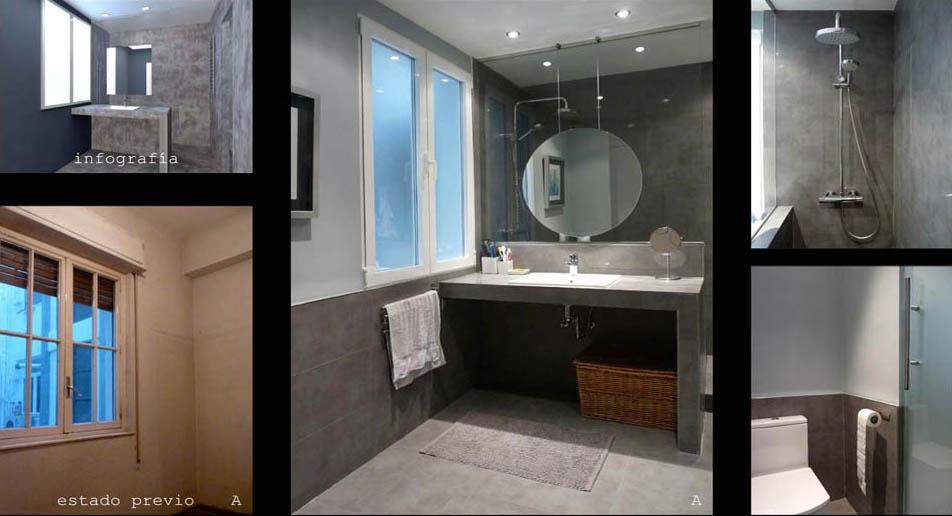El baño en suite con el dormitorio principal.  Separar la zona de aseo del sanitario hace que su uso sea más versátil.