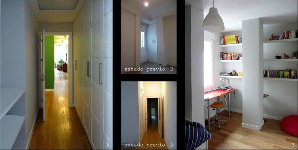 Los dormitorios el almacenaje es fundamental, así que se optimizaron los armarios al máximo.