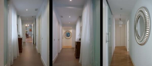 Para evitar pasillos largos y oscuros se trataron como estancias de paso.