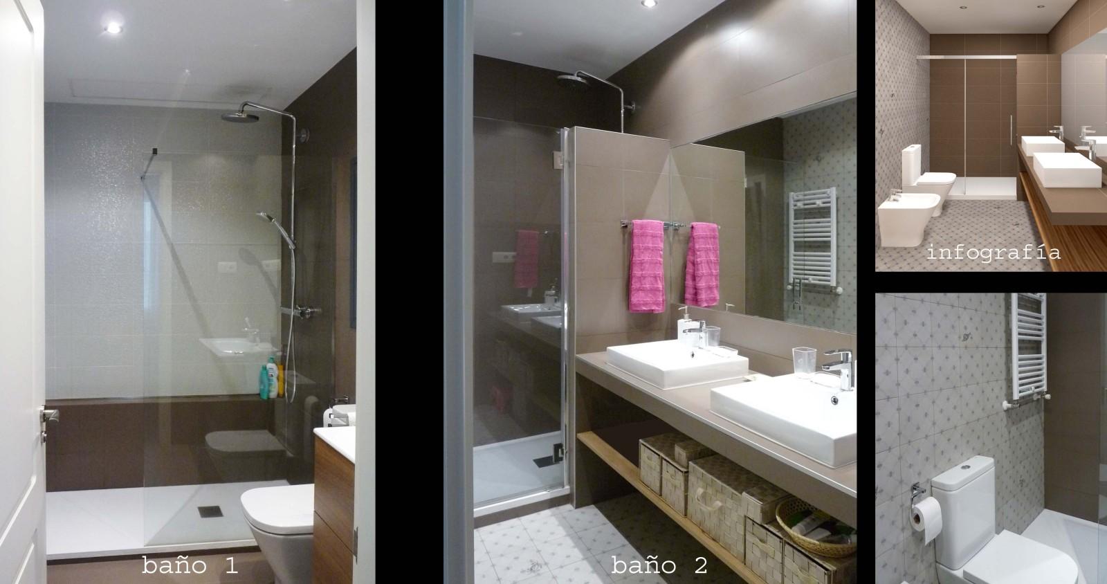 Al usar la misma baldosa en la cocina y los baños se consigue que la decoración tenga conexión.