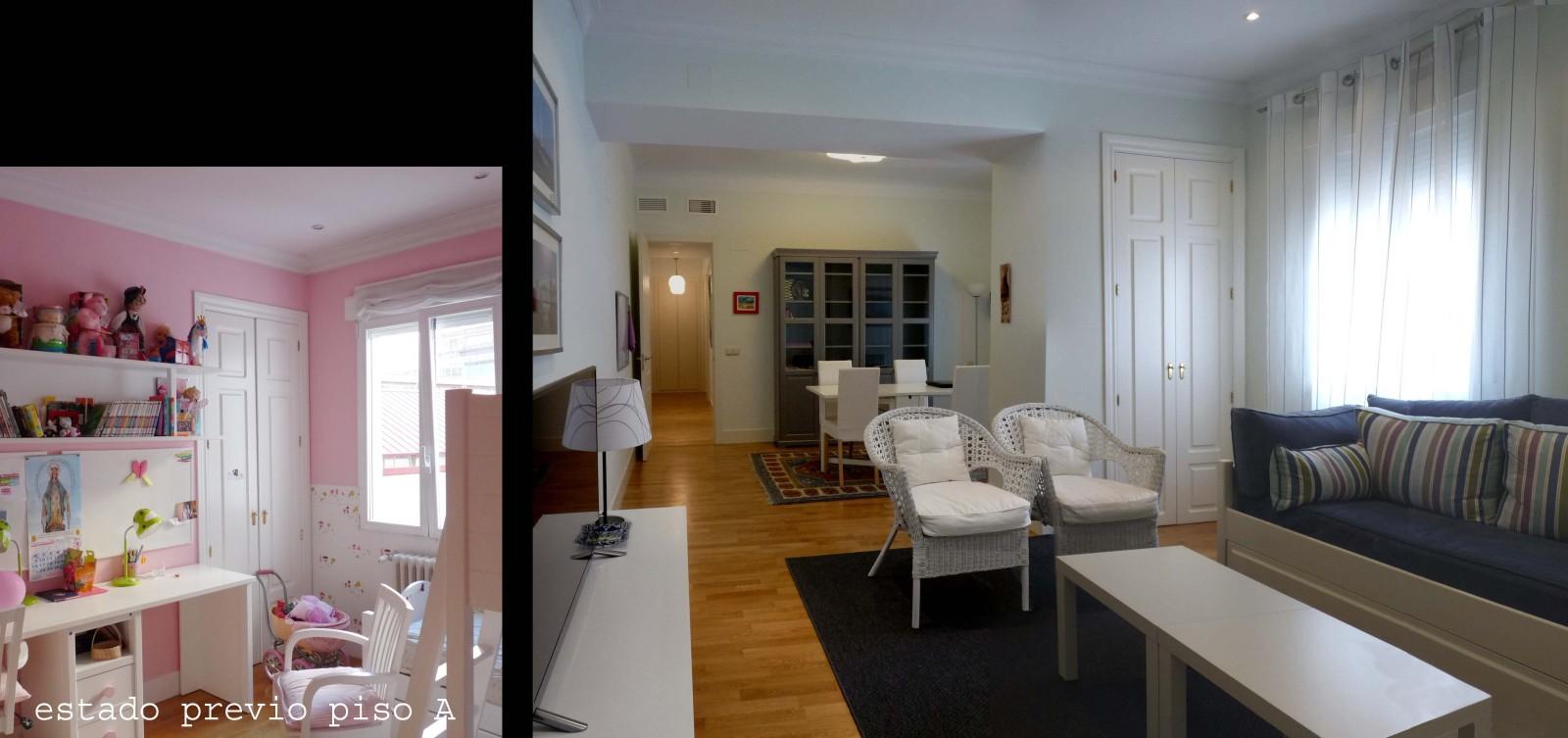 También funciona como cuarto de invitados, por eso se conservó el armario y se tansformó una cama nido en sofá.